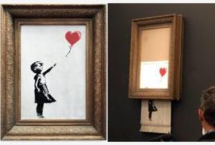 Cosa ne sarà ora del di Banksy quadro costato 1 milione e finito subito distrutto.