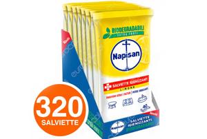 320 Napisan Salviette Biodegradabili Sgrassanti e Igienizzanti