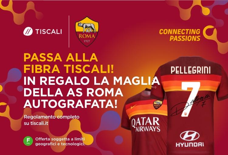 Maglia Roma autografata Tiscali promo Ultrainternet fibra