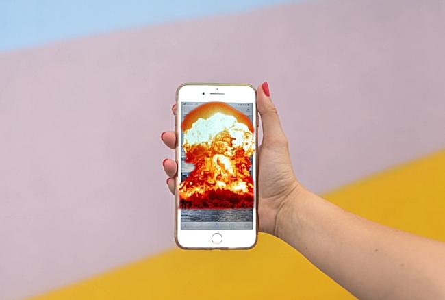 smartphone esplosione batteria