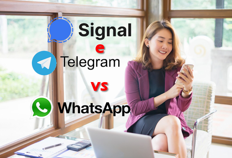 telegram e signal contro whatsapp